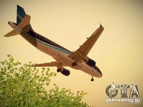 Airbus A320-214 Azerbaijan Airlines AZAL для GTA San Andreas вид сверху