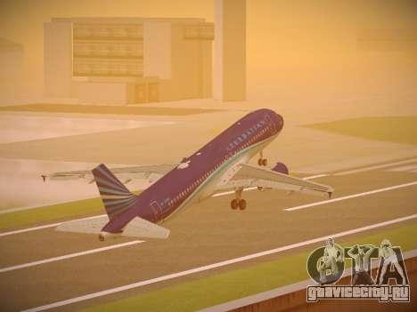 Airbus A320-214 Azerbaijan Airlines AZAL для GTA San Andreas салон