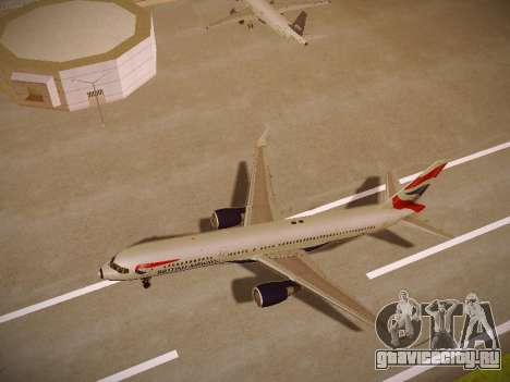 Boeing 757-236 British Airways для GTA San Andreas вид сзади