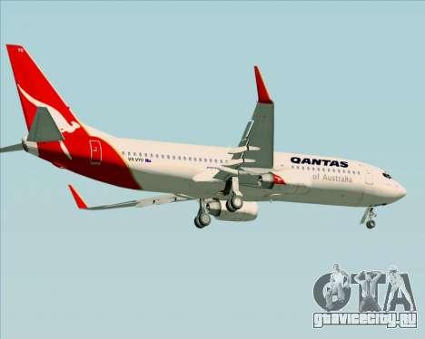 Boeing 737-838 Qantas (Old Colors) для GTA San Andreas колёса