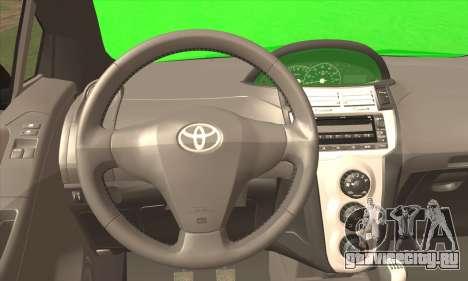 Toyota Yaris Shark Edition для GTA San Andreas вид сзади слева