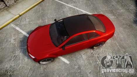 GTA V Ubermacht Sentinel XS для GTA 4 вид справа