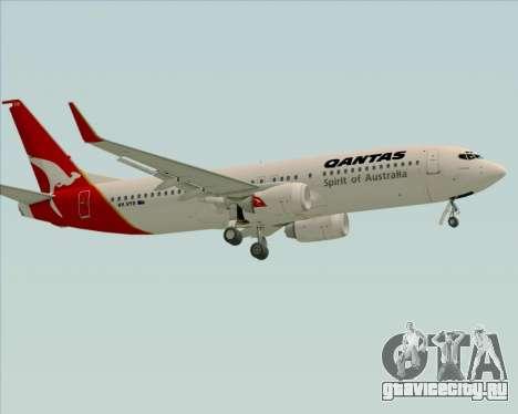 Boeing 737-838 Qantas (Old Colors) для GTA San Andreas вид сверху