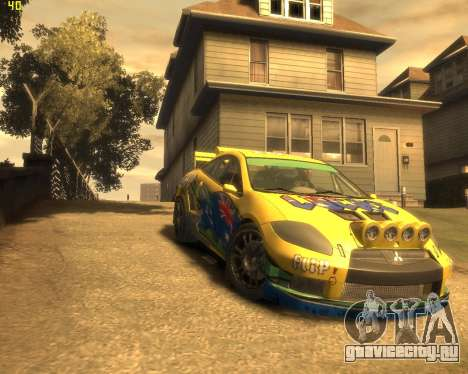 Mitsubishi Eclipse GT Rallycross для GTA 4 вид сзади