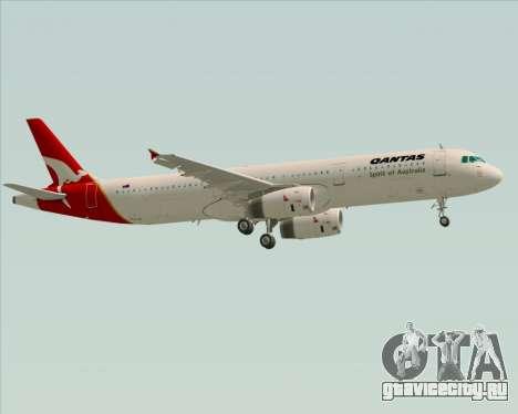 Airbus A321-200 Qantas для GTA San Andreas вид сверху