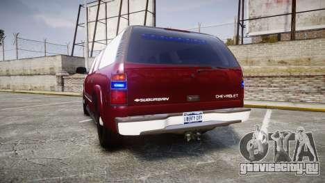 Chevrolet Suburban Undercover 2003 Black Rims для GTA 4 вид сзади слева