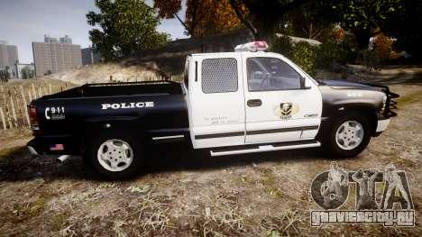 Chevrolet Silverado SWAT [ELS] для GTA 4 вид слева