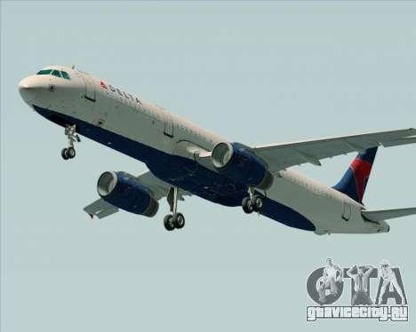 Airbus A321-200 Delta Air Lines для GTA San Andreas вид справа