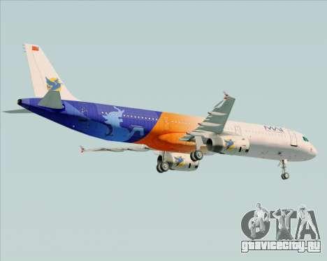 Airbus A321-200 Myanmar Airways International для GTA San Andreas вид справа