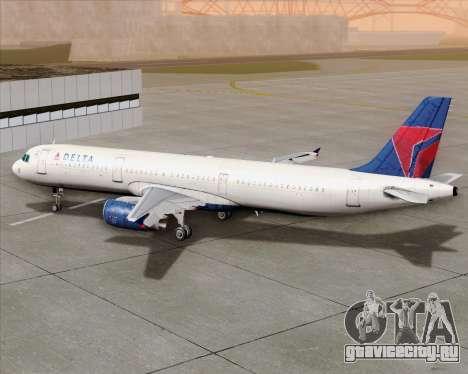 Airbus A321-200 Delta Air Lines для GTA San Andreas вид сверху