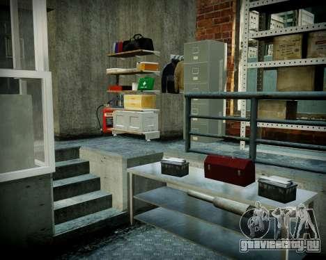 Гараж с новым интерьером в Алкогвине для GTA 4