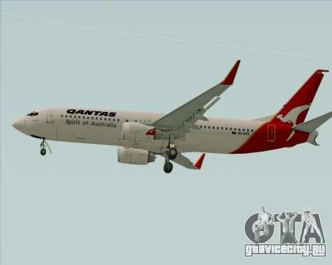 Boeing 737-838 Qantas (Old Colors) для GTA San Andreas вид сзади