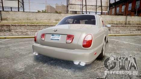 Bentley Arnage T 2005 Rims3 для GTA 4 вид сзади слева
