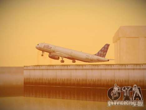 Airbus A321-232 jetBlue Blue Kid in the Town для GTA San Andreas вид сверху