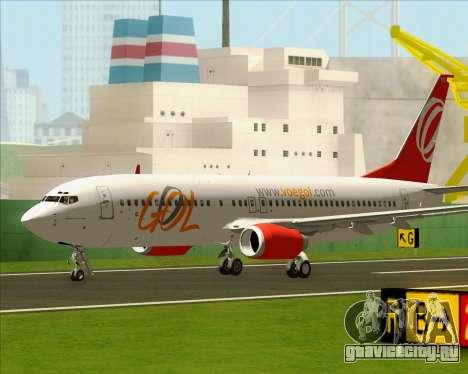 Boeing 737-800 Gol Transportes Aéreos для GTA San Andreas вид справа