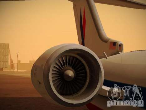 Bombardier CRJ-700 American Eagle для GTA San Andreas двигатель