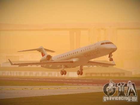 Bombardier CRJ-700 Air Canada Express для GTA San Andreas вид слева