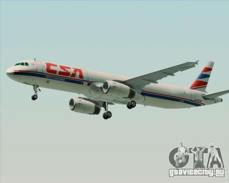 Airbus A321-200 CSA Czech Airlines для GTA San Andreas вид справа