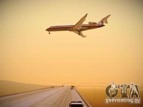 Bombardier CRJ-700 American Eagle для GTA San Andreas вид снизу