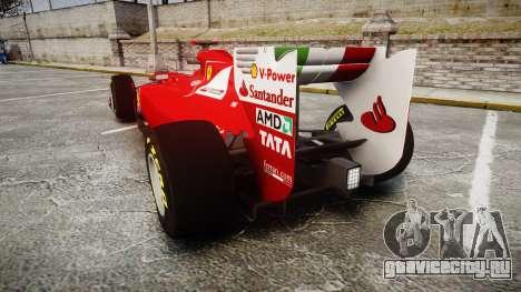 Ferrari 150 Italia Alonso для GTA 4 вид сзади слева