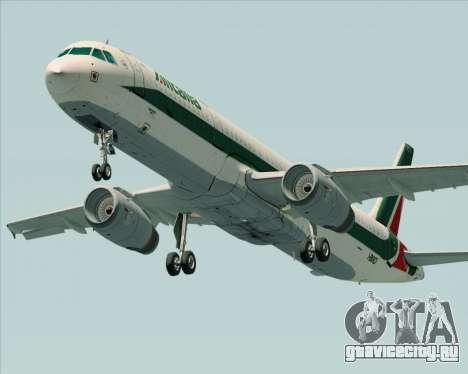 Airbus A321-200 Alitalia для GTA San Andreas вид сбоку