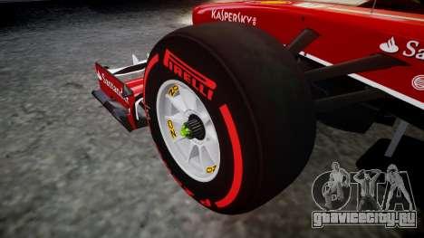 Ferrari F138 v2.0 [RIV] Alonso TSSD для GTA 4 вид сзади