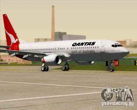 Boeing 737-838 Qantas (Old Colors) для GTA San Andreas вид сбоку