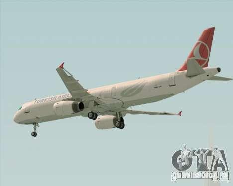 Airbus A321-200 Turkish Airlines для GTA San Andreas вид сверху