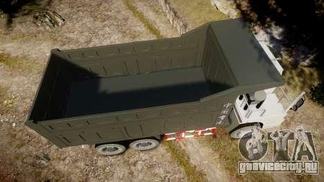 HOWO Truck для GTA 4 вид справа