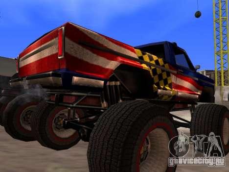 Новые текстуры Monster для GTA San Andreas для GTA San Andreas вид сзади