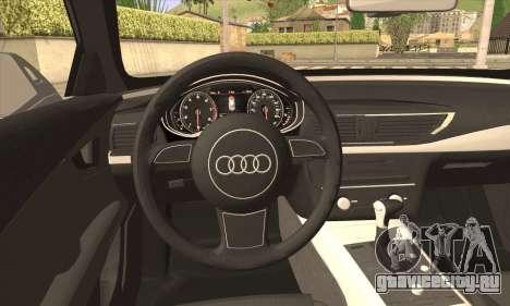 Audi A7 для GTA San Andreas вид сзади слева