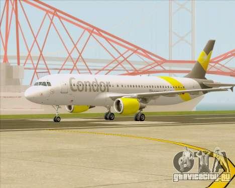 Airbus A320-212 Condor для GTA San Andreas вид изнутри