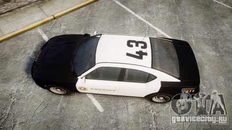 GTA V Bravado Buffalo LS Sheriff Black [ELS] Sli для GTA 4 вид справа