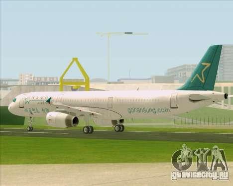 Airbus A321-200 Hansung Airlines для GTA San Andreas вид сбоку