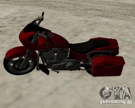 Bagger для GTA San Andreas вид сзади