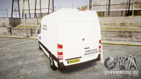 Mercedes-Benz Sprinter 311 cdi London Police для GTA 4 вид сзади слева