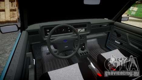 ВАЗ-2107 бродяга для GTA 4 вид изнутри