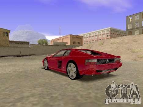 Ferrari 512TR для GTA San Andreas вид слева