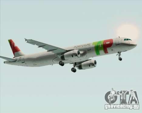 Airbus A321-200 TAP Portugal для GTA San Andreas вид сбоку
