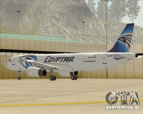 Airbus A321-200 EgyptAir для GTA San Andreas колёса
