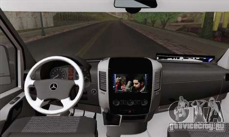 Mercedes-Benz Sprinter Etiket Kamyonet для GTA San Andreas вид сзади слева