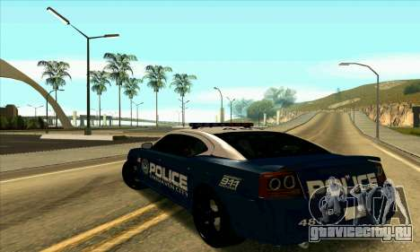 FCPD Dodge Charger SRT8 для GTA San Andreas вид слева