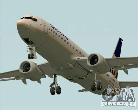 Boeing 737-824 United Airlines для GTA San Andreas вид сбоку