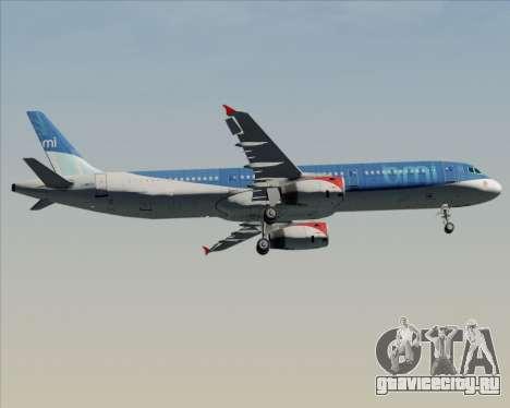 Airbus A321-200 British Midland International для GTA San Andreas вид изнутри