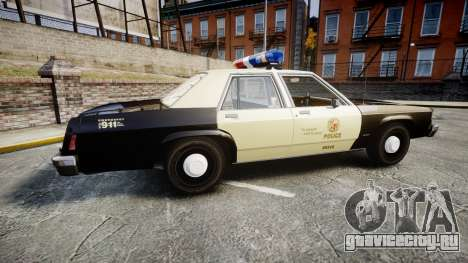 Ford LTD Crown Victoria 1987 LAPD [ELS] для GTA 4 вид слева
