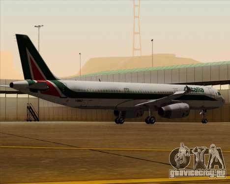 Airbus A321-200 Alitalia для GTA San Andreas вид снизу