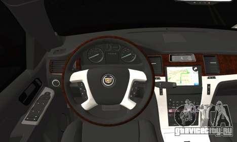 Cadillac Escalade ESV для GTA San Andreas вид сзади слева