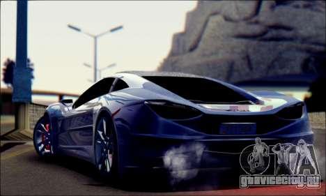 Shimmy Python 2012 для GTA San Andreas вид слева