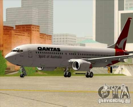 Boeing 737-838 Qantas (Old Colors) для GTA San Andreas вид слева