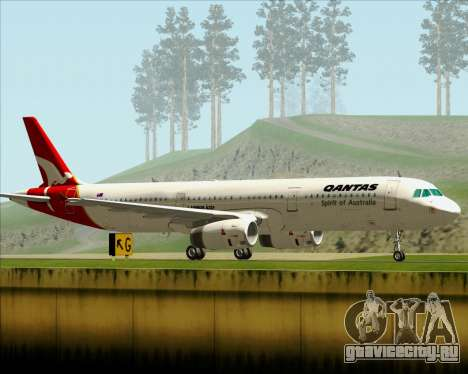 Airbus A321-200 Qantas для GTA San Andreas вид справа